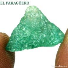 Coleccionismo de minerales: ESMERALDA EN BRUTO DE 10,10 KILATES CON CERTIFICADO AGI - MEDIDA 1,5 X 1,3 X 1,2 CENTIMETROS Nº7. Lote 191944212