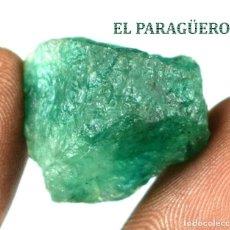 Coleccionismo de minerales: ESMERALDA EN BRUTO DE 40,05 KILATES CON CERTIFICADO AGI - MEDIDA 2,2 X 2,0 X 1,6 CENTIMETROS Nº9. Lote 192332526