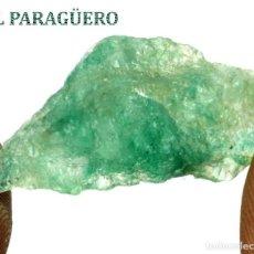 Coleccionismo de minerales: ESMERALDA EN BRUTO DE 18,65 KILATES CON CERTIFICADO AGI - MEDIDA 2,7 X 1,2 X 1,0 CENTIMETROS Nº10. Lote 192336420