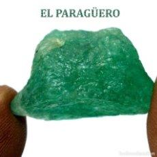 Coleccionismo de minerales: ESMERALDA EN BRUTO DE 27,50 KILATES CON CERTIFICADO AGI - MEDIDA 2,4 X 1,8 X 1,3 CENTIMETROS Nº11. Lote 192337101