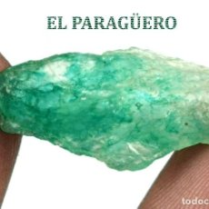 Coleccionismo de minerales: ESMERALDA EN BRUTO DE 10,10 KILATES CON CERTIFICADO AGI - MEDIDA 2,4 X 1,3 X 0,6 CENTIMETROS Nº13. Lote 192339697