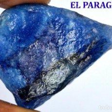 Coleccionismo de minerales: ZAFIRO AZUL EN BRUTO DE 153,95 KILATES CON CERTIFICADO AGI - MEDIDA 3,9 X 2,9 X 2,9 CENTIMETROS Nº3. Lote 192340912