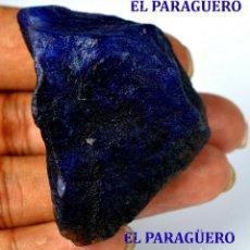 Coleccionismo de minerales: ZAFIRO AZUL EN BRUTO DE 261,15 KILATES CON CERTIFICADO AGI - MEDIDA 5,2 X 3,6 X 2,6 CENTIMETROS Nº4. Lote 192341651