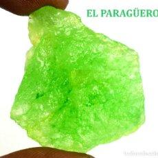 Coleccionismo de minerales: PERIDOT EN BRUTO DE 79,85 KILATES CON CERTIFICADO AGI - MEDIDA 3,5 X 3,3 X 1,3 CENTIMETROS Nº2. Lote 192350191