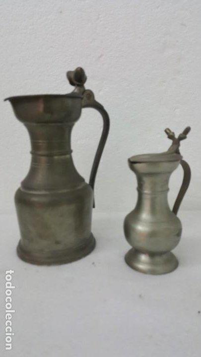 JARRAS DE VINO DE ESTAÑO (Coleccionismo - Mineralogía - Otros)