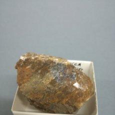 Coleccionismo de minerales: CALCITA ESPÁTICA + GALENA - MINERAL. EN CAJA 4X4 CM. Lote 194721103