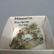 Coleccionismo de minerales: ARAGONITO AZUL - MINERAL. EN CAJA 4X4 CM. Lote 194721263
