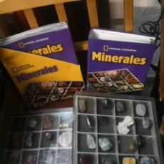 Coleccionismo de minerales: COLECCION COMPLETA 40 MINERALES CON FACCICULOS Y CARPETA NATIONAL GEOGRAPHIC. Lote 238891065