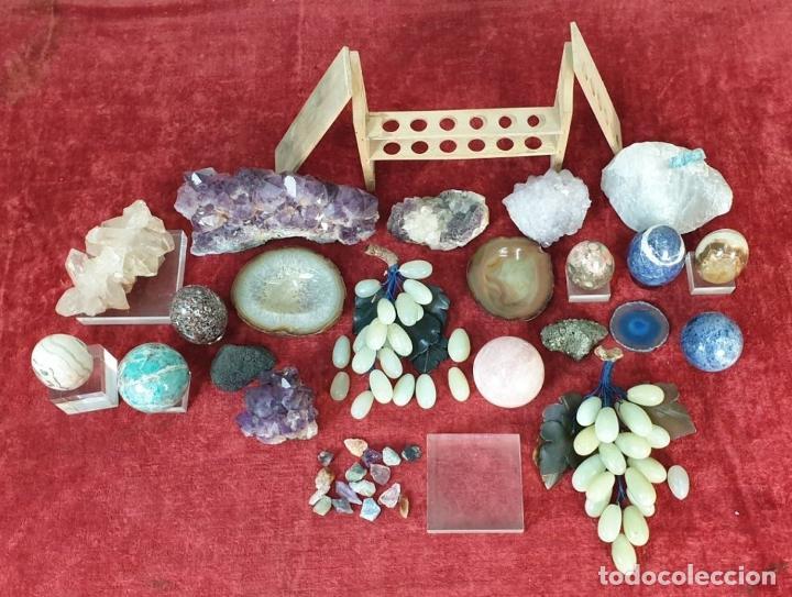 Coleccionismo de minerales: COLECCIÓN DE MINERALES. VARIOS TAMAÑOS Y FORMAS. SIGLO XX. - Foto 5 - 198285046
