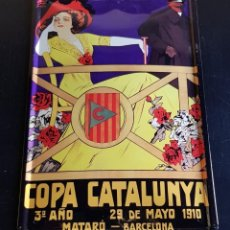 Coleccionismo de minerales: PLACA COPA CATALUNYA MATARO BARCELONA 1910 PARA COLGAR DE LA PARED. Lote 198615841