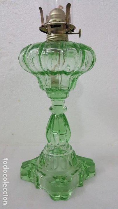 Coleccionismo de minerales: QUINQUE DE VIDRIO COLOR VERDE CLARO Y TRANSPARENTE - Foto 3 - 198766840