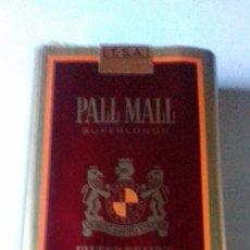 Coleccionismo de minerales: PAQUETE DE TABACO PALL MALL EXTRA LARGO AÑOS 70. Lote 199160111