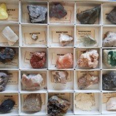Coleccionismo de minerales: COLECCION DE 25 MINERALES DE ESPAÑA , AÑOS 1950-60. Lote 199482243