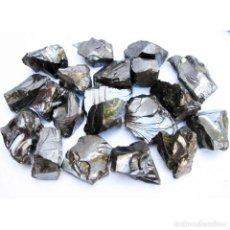 Coleccionismo de minerales: SHUNGIT ELITE 98% LOTE 50 G. SHUNGITA SHUNGITE LOT FRACCIÓN 1 A 4 G. POR PIEZA. Lote 203788888