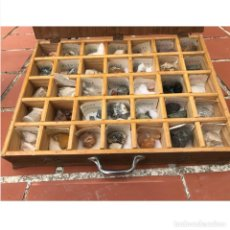 Coleccionismo de minerales: ANTIGUA COLECCIONES MINERALES - EN UNA CAJA. Lote 205593867