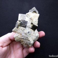 Coleccionismo de minerales: FD MINERALES: PIRITAS EN MATRIZ - NAVAJÚN - LA RIOJA - ESPAÑA - MLQ 279. Lote 206189446