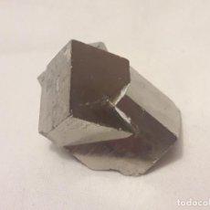 Coleccionismo de minerales: MAGNIFICA PIEZA DE COLECCIÓN MACLA DE PIRITA NAVAJÚN LA RIOJA 4CM. Lote 206243952
