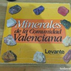Coleccionismo de minerales: COLECCIÓN MINERALES DE LA COMUNIDAD VALENCIANA INCOMPLETA (TIENE 40 DE 60 PIEDRAS CON SUS FICHAS). Lote 206283656