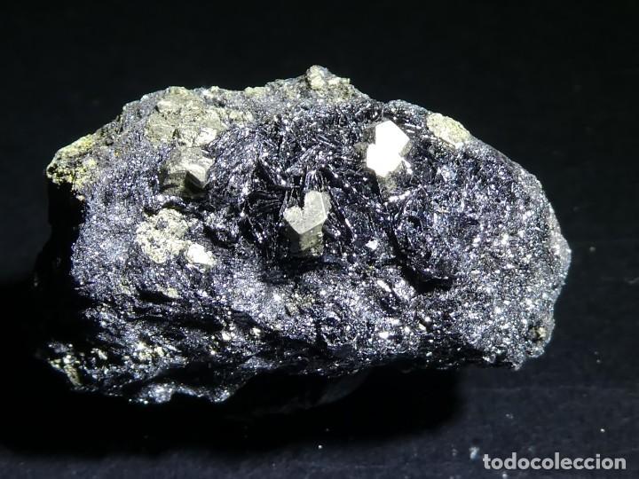 (059) MINERALES. PIRITA SOBRE HEMATITES, ELBA, ITALIA. (Coleccionismo - Mineralogía - Otros)