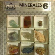 Coleccionismo de minerales: CONJUNTO DE MINERALES, SILICATOS, 12 ELEMENTOS. COLECCIÓN ESCOLAR PARA CIENCIAS NATURALES.. Lote 227096470