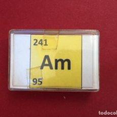 Coleccionismo de minerales: AMERICIO 241, MUESTRA PARA TESTEAR MEDIDORES GEIGER CONTADORES GAMMA, RADIACTIVIDAD RADIO. Lote 208973825