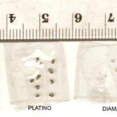 Collectionnisme de minéraux: 40 PEPITAS PLATA 999, ORO 22KT, PLATINO Y DIAMANTES EN BRUTO COLECCION INVERSION. Lote 209841507