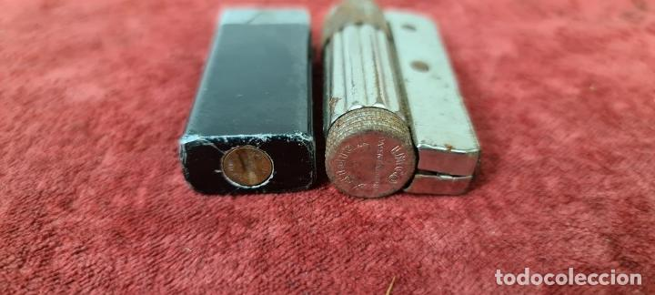 Coleccionismo de minerales: COLECCIÓN DE 16 ENCENDEDORES. METAL PLATEADO. GASOLINA Y GAS, AÑOS 70. - Foto 12 - 210163518