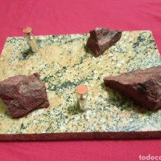 Coleccionismo de minerales: ANTIGUO JUEGO RECUERDO MINAS DE ALMADEN CINABRIO Y MERCURIO. Lote 210247203