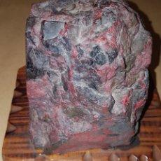 Coleccionismo de minerales: MAGNIFICA ROCA DE CINABRIO MINAS DE ALMADEN 3KILOS 420 GRAMOS. Lote 210606645