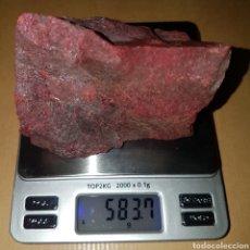 Coleccionismo de minerales: ROCA CINABRIO MINAS DE ALMADEN 583 GRAMOS. Lote 210606808