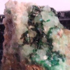 Coleccionismo de minerales: MINERAL DE BROCHANTITA CRISTALIZADA. NAMIBIA.. Lote 211266182