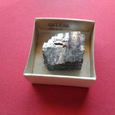 Coleccionismo de minerales: CAJA COLECCION CAJITA MINERAL GALENA JAEN. Lote 211402720