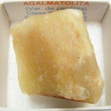 Coleccionismo de minerales: AGALMATOLITA. Lote 211769817
