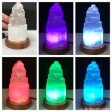 Coleccionismo de minerales: SELENITA LÁMPARA USB MULTICOLOR SELENITE LAMP MULTICOLOURED. Lote 211771152