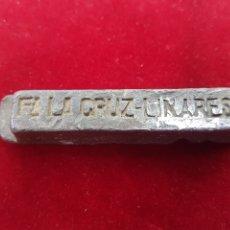 Coleccionismo de minerales: ANTIGUO LINGOTE PLOMO FABRICA LA CRUZ MINAS DE LINARES. Lote 212539685