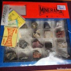 Coleccionismo de minerales: MINERALES MINERAMA N1 CON FICHAS TECNICAS COLECCIÓN. Lote 212881257