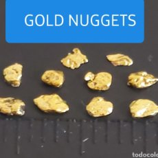 Collectionnisme de minéraux: 10 PEPITAS DE ORO ALASKA. Lote 213271642