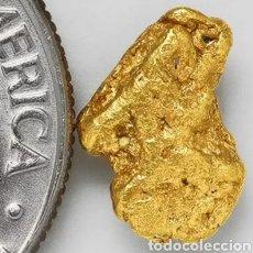 Coleccionismo de minerales: PEPITA DE ORO NATURAL 0.6182 GRAMOS. Lote 213510576