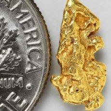Coleccionismo de minerales: PEPITA DE ORO NATURAL 0.5903 GRAMOS. Lote 213510788