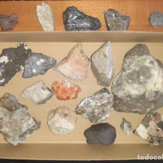 Coleccionismo de minerales: LOTE DE 19 MINERALES DE DISTINTOS TAMAÑOS.. Lote 213636086