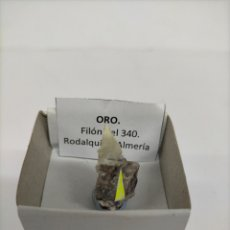 Coleccionismo de minerales: ORO - MINERAL. EN CAJA 4X4 CM. Lote 215282863