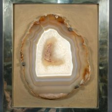 Coleccionismo de minerales: PIEDRA ÁGATA ENMARCADA. Lote 222597928
