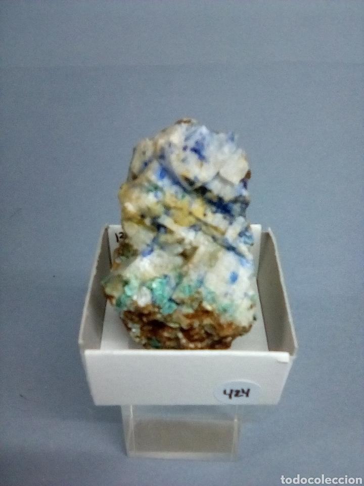 AZURITA+BARITA - MINERAL (Coleccionismo - Mineralogía - Otros)