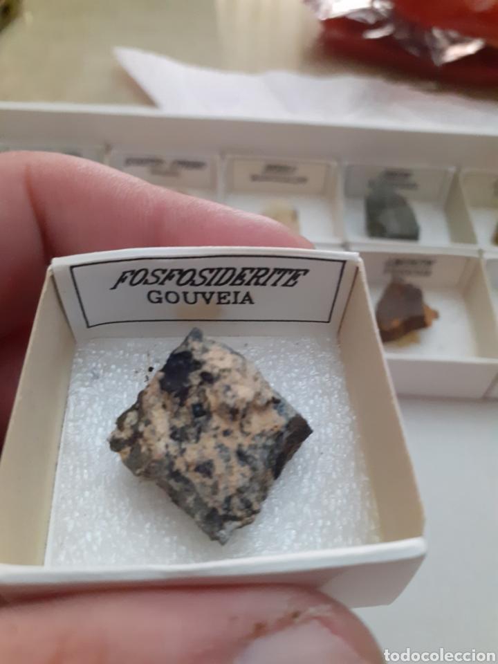MINERAL FOSFOSIDERITA CAJA 4X4CM ENVIO GRATIS, LEAN TEXTO (Coleccionismo - Mineralogía - Otros)
