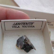 Coleccionismo de minerales: MINERAL LEBITENITA CAJA 4X4CM ENVIO GRATIS LEAN TEXTO. Lote 223938731