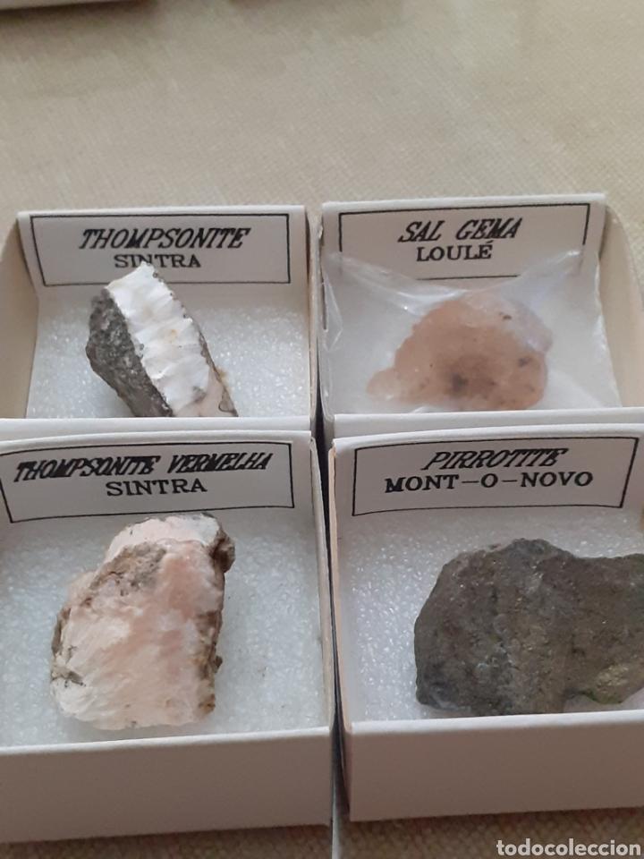 LOTE 4 MINERALES CAJA 4X4CM ENVIO GRATIS LEAN TEXTO (Coleccionismo - Mineralogía - Otros)