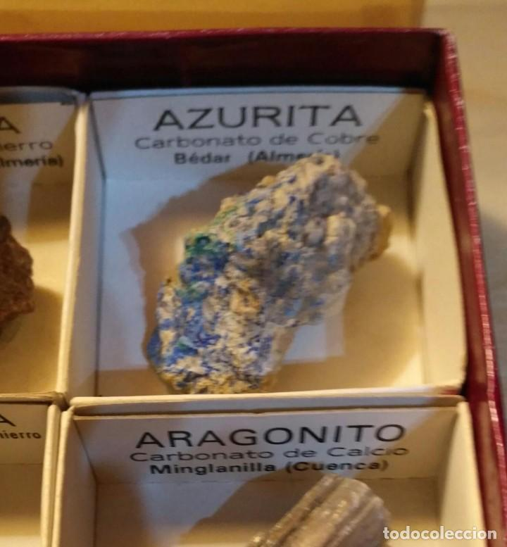 Coleccionismo de minerales: Colección CRIP KADET 1 de 12 minerales, limonita, galena, siderita, azurita, magnetita, ... - Foto 5 - 226133230