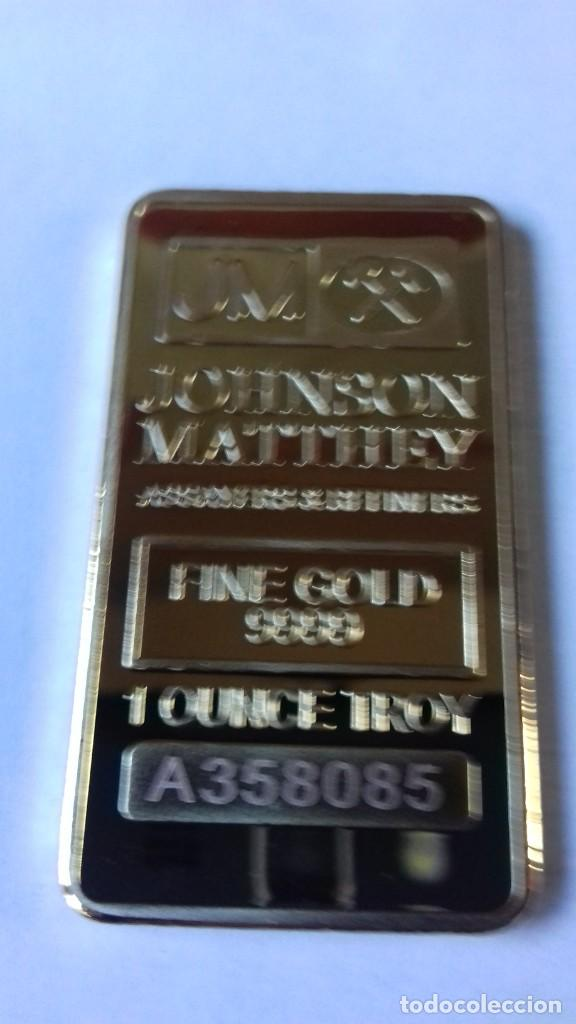 LINGOTE DE JOHNSON MATTHEV COPIA (Coleccionismo - Mineralogía - Otros)