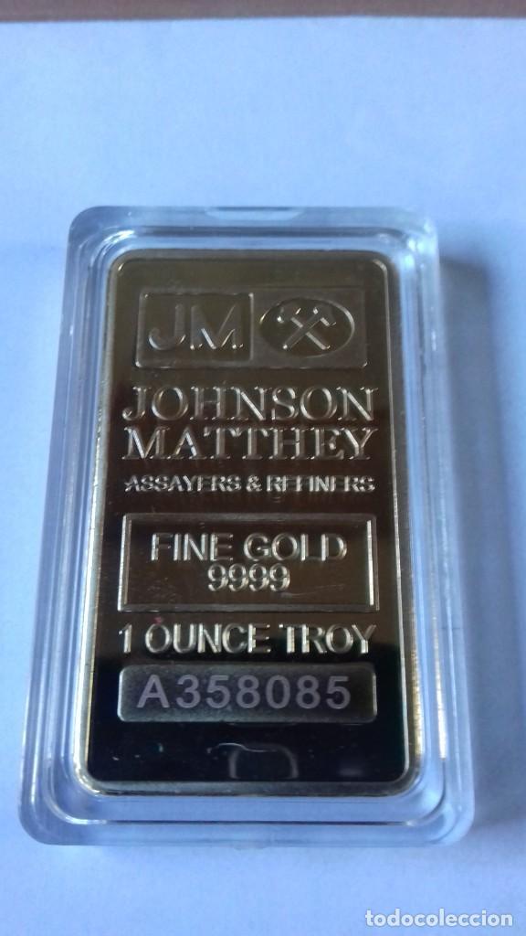 Coleccionismo de minerales: Lingote de JOHNSON MATTHEV copia - Foto 3 - 226503730