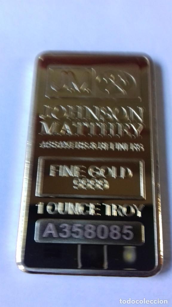 Coleccionismo de minerales: Lingote de JOHNSON MATTHEV copia - Foto 10 - 226503730